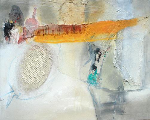 Metamorphose, Pigmente,Material auf Lwd. 80 x 100, 2008