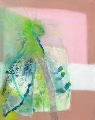 Frühling, Acryl-Mischtechnik, Lwd. 100 x 80, übermalt, 2013