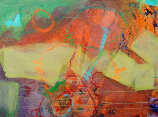 maskulin, Acryl-Pigmente-Mischt.auf Lwd.,60 x 80, 2009