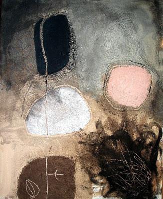 verkapselt,Pigmente auf Lwd.  100 x 80, 2007