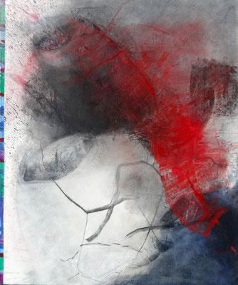 rot über alles, Acryl-Mischtechnik auf Lwd.,100 x 80, übermalt 2014
