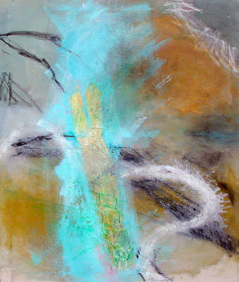 lómo, der Fluß, Acryl-Pigmente-Mischtechnik auf Lwd, 80 x 100,2010 - Kopie