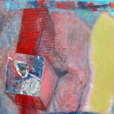 Körpersprache,Acryl-Mischt. auf Lwd, 80 x 80 , 2011