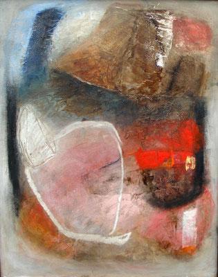 das Innere, Acryl-Mischtechnik auf Holz, alter Rahmen,82 x 65, 2011