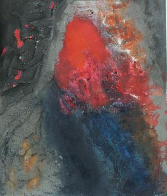 unter Druck,Acryl-Schuett. Papier,64 x 50,2002
