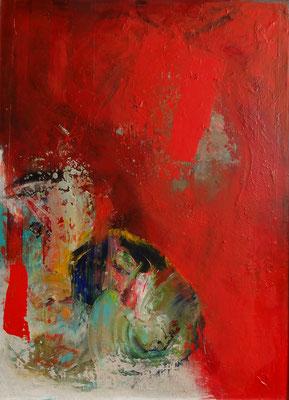 o.T. Acryl auf Leinwand auf Holz gezogen, 70 x 90,übermalt 2011,2014