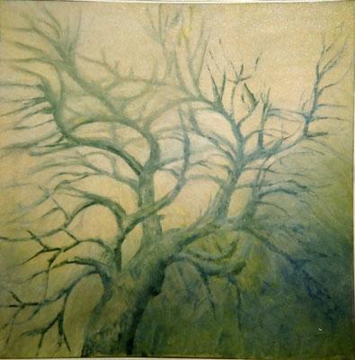 Baum, Öl auf Lwd. 80 x 80, 1972,
