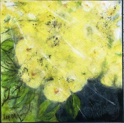 gelbe Blumen,  Acryl-Lwd.,60 x 60 ,2001