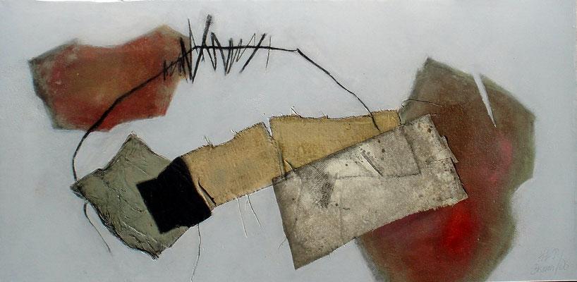 Ohne Titel,Acryl Mischt. auf Lwd. 105 x 210 ,2006