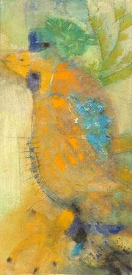 Monsieur oiseau Pigmente auf Lwd. 125 x 60,2007