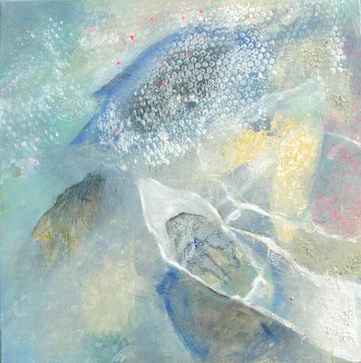 Traumreise, 60x60, Acryl-Mischtechnik auf Lwd.,übermalt 2012
