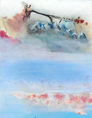 down-under,Acryl-Mischtechnik, Lwd. 90 x 70, übermalt 2014