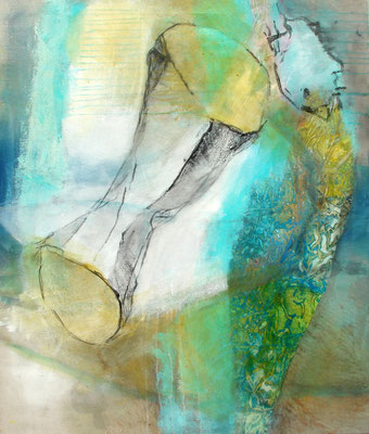lieber außen vor! Acryl-Pigmente-Mischtechnik auf Lwd, 80 x 100,2010