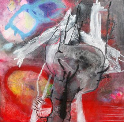 Skorpion,Acryl-Pigmente-Mischtechnik auf Lwd, 80 x 80,2009