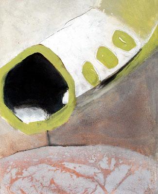 außerirdische Samenschote,Pigmente auf Lwd. 100 x 80, 2007