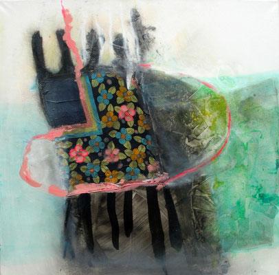 wir sind unter uns, Acryl-Pigmente-Mischtechnik auf Lwd, 80 x 80,2010
