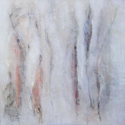 Zwischenraum 4,  Acrylmischtechnik ,Lwd. 80 x 80 ,2016