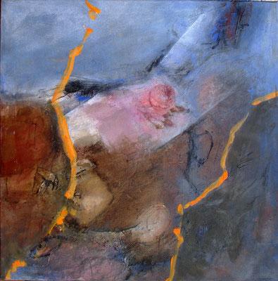 Erneuerung, Acryl-Mischt.auf Lwd, 60 x 60,