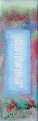 heiter-1,Acryl-Pigmente-Mischtechnik auf Pressfaserplatte 114 x 39, übermalt 2015 - Kopie