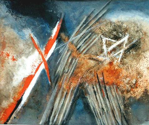 11. N0v.,Acryl auf Papier 50 x 64, ,2001