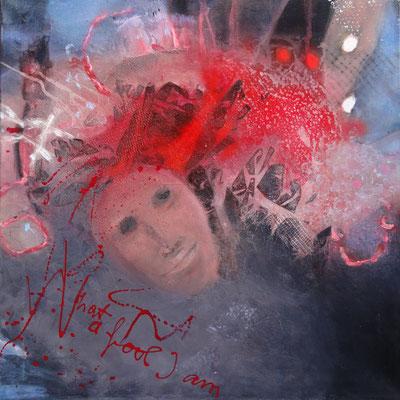 Lucy in the sky Mischtechnik auf Lwd., 60 x 60,übermalt 2013,
