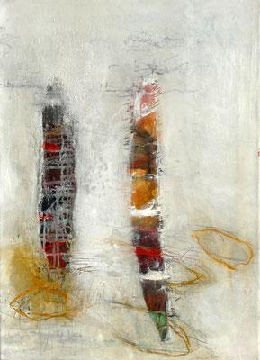 Sonde-a Mischtechnik auf Holz, 54 x 38 , 2015