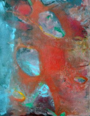 Gewebe, Acryl auf Papier, 50 x 40 , 2014