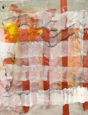 verhangen- 2, Acryl auf Lwd. 90x 70, 2017