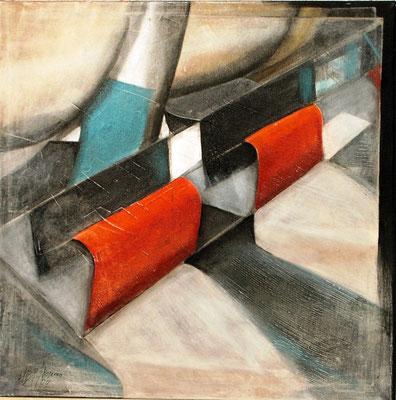 Technisch, Acryl auf Lwd. 60 x 60,2004