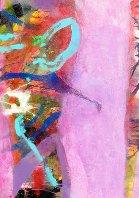 m.m.m chaos concealed-1, Acryl-Pigmente auf Lwd. ,70 x 100, 2010