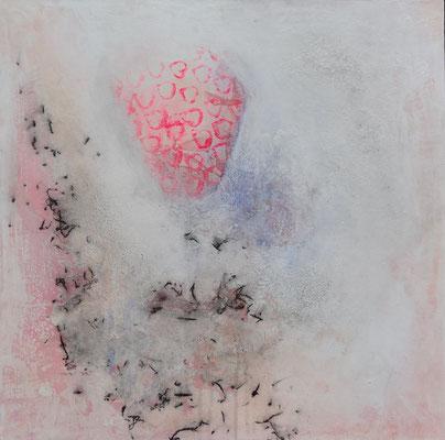 strawbery-balloon Acryl-Mischtechnik auf Lwd. 6o x 60, 2015 - Kopie