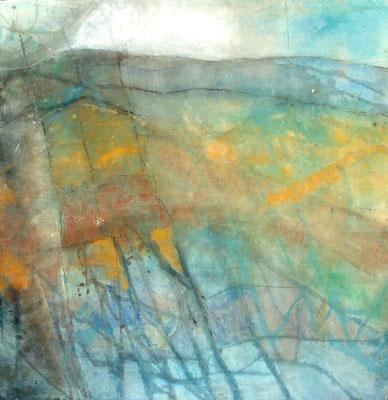 Deichland,Pigmente auf Lwd.,120 x 125,2007