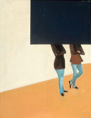 Betrachtung, Acryl -Lwd. 70 x 90 , 2012 - Kopie