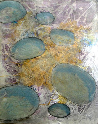 kartoffelige Bakteroide  1,Pigmente auf Lwd.,80 x 100, 2008