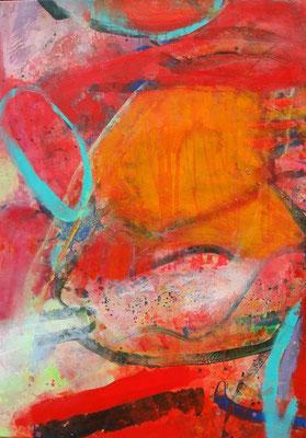 m.m.m. eingefangen-2,Acryl-Pigmente auf Lwd., 70 x 100, 2010