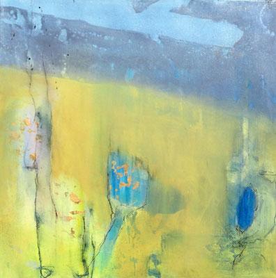nahe am See 3,Acryl auf Leinwand ,60 x 60,übermalt 2015