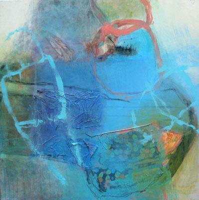 Jungfrau, Acryl-Pigmente-Mischtechnik auf Lwd, 80 x 80,2010 (3)