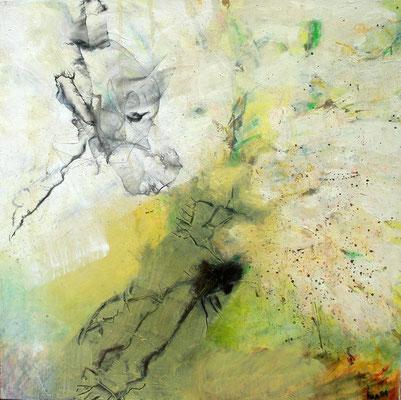 Zephir, Acryl-Mischt. auf Lwd., 50 x 50,übermalt 2009