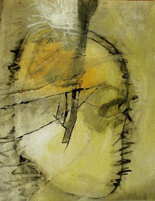 Kartoffelkopp ,Acrylmischtechnik  auf Papier,auf Pappe gezogen, 100 x 80,2005