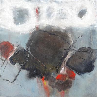Steinschlag-2-Acryl-Mischtechnik auf Lwd.,60 x 60,2014