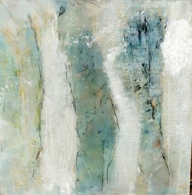 Zwischenraum 1,  Acrylmischtechnik ,Lwd. 80 x 80 ,2016