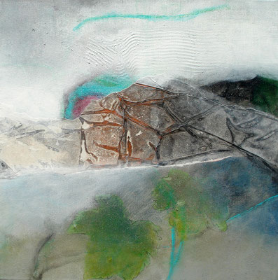 Grüner Veltliner-2,Acryl-Pigmente-Mischtechnik auf Lwd.,60 x 60,übermalt 2011