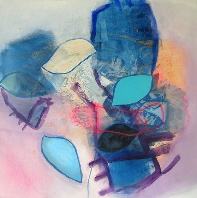 Steinbock, Acryl,Pigmente auf Lwd., 80 x 80, 2009 (2)