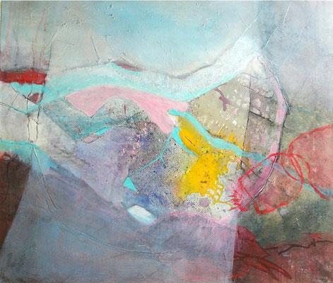 infektiös, Acryl,Pigmente auf Lwd,85 x 104,übermalt 2008