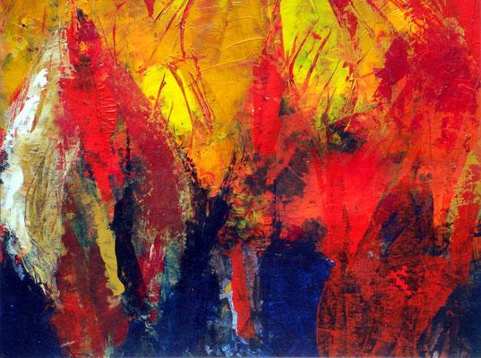 46d,Dresden,Acryl auf Papier 30 x 35, 2001