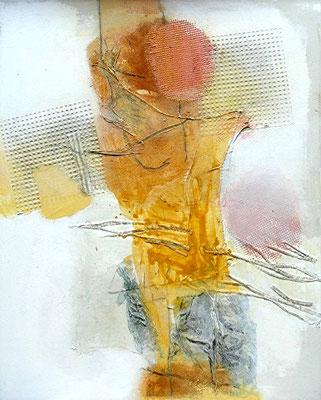 J-ea-ns,Pigmente, Material auf Lwd.,  100 x 80, 2008