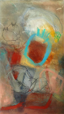 Kürbisernte-4,Acryl-Pigmente-Mischtechnik auf Lwd., 40 x 70 , 2009