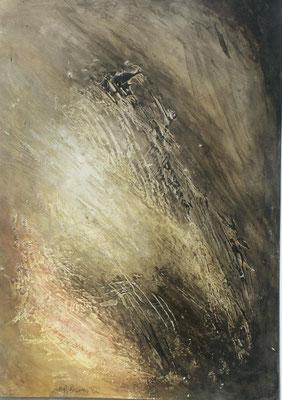 Helligkeit,,Acryl-Enkaustik auf Pappe,70 x 48,2003
