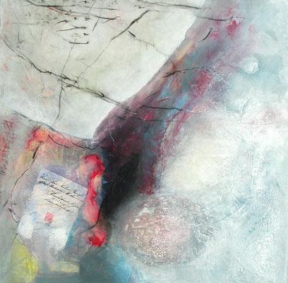 Ausgrabungen, Acryl-Mischtechnik auf Lwd., 80 x 80, 2012