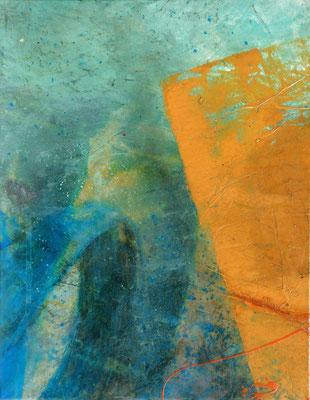 Sommerzeit 1,fünfteilig,Acryl auf Papier, auf Lwd. gezogen,36 x 48,2006